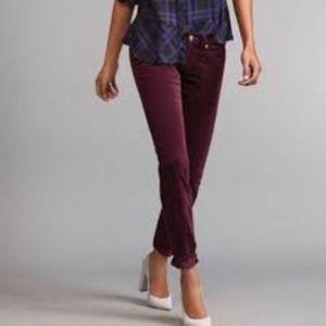 CABI #3197 Wine Burgundy Skinny Cords Pants